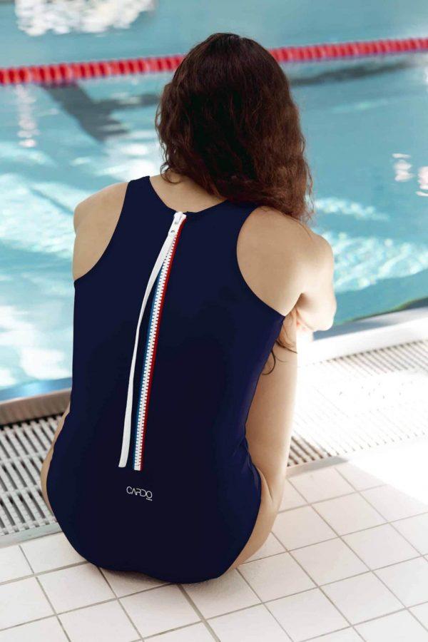 Maillot de bain femme bleu blanc rouge - CARDO Paris - 2