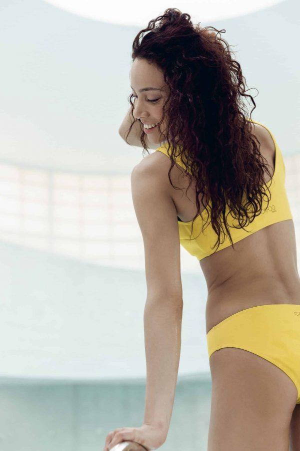 Maillot de bain CARDOMINI jaune CARDO Paris piscine swimwear joli élégant confortable français