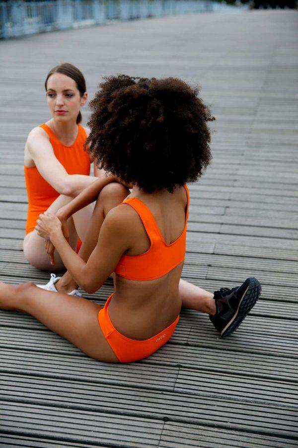 Maillot de bain CARDOMINI orange CARDO Paris piscine swimwear joli élégant confortable français