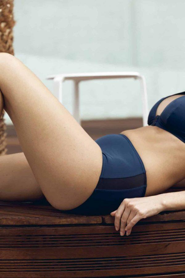 Maillot de bain CARDOSHORT bleu CARDO Paris piscine swimwear joli élégant confortable français