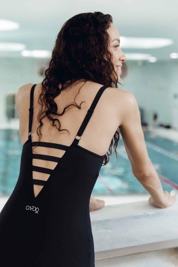 Maillot de bain CORSETTO noir CARDO Paris piscine swimwear joli élégant confortable français