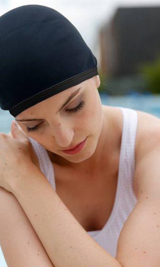 Swimming cap Tuxy Swarovski CARDO Paris swimming pool water-repellent pretty comfy french