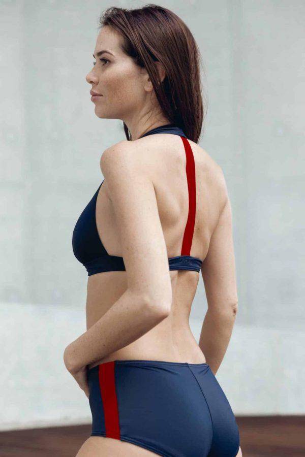Maillot de bain CARDOSHORT bleu rouge CARDO Paris piscine swimwear joli élégant confortable français